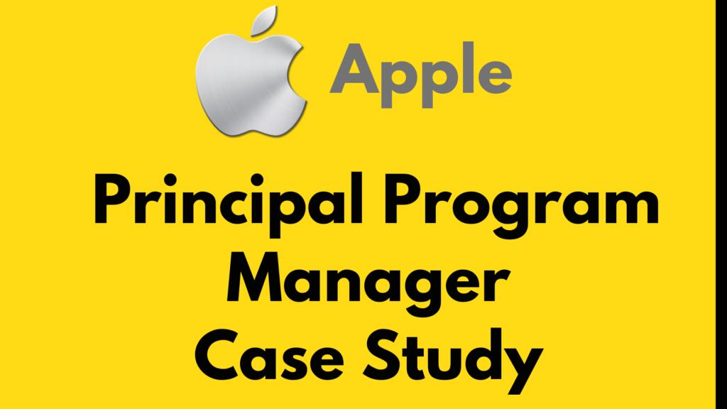 Program manager case study apple