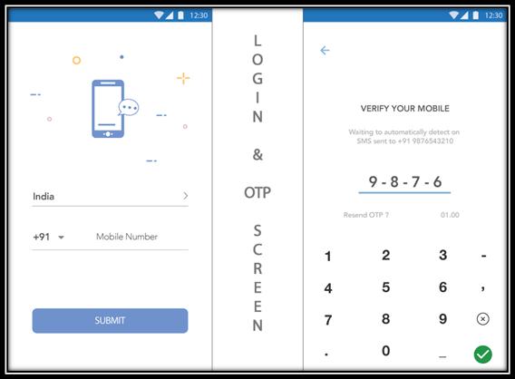 mobile-otp screen