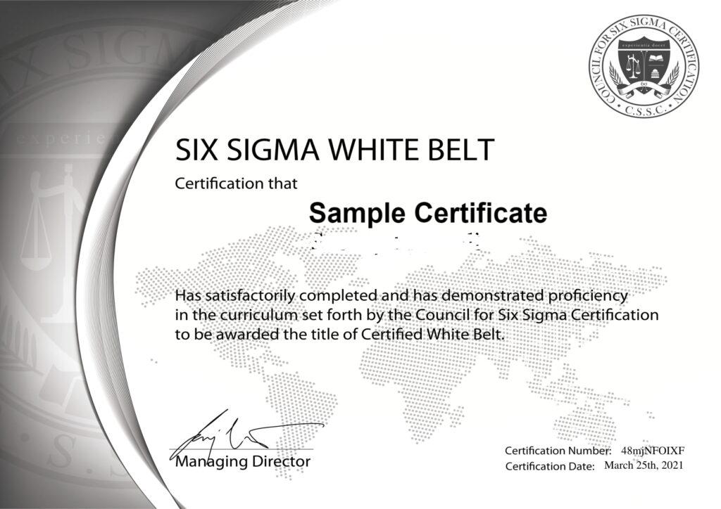 six sigma certified