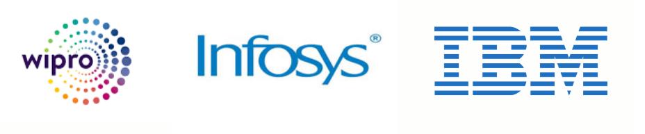logo of wipro infosys IBM