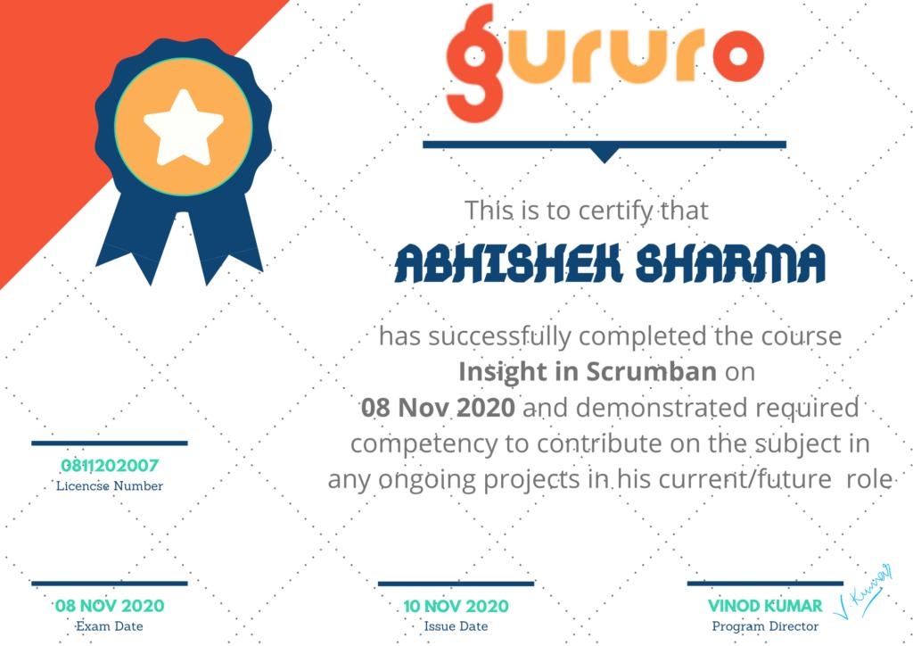 scrumban learning certificate